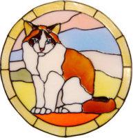 596 - Ragdoll Cat Frame - Handmade peelable static window cling decoration