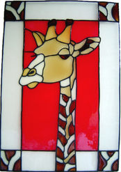 611 - Giraffe Frame - Handmade peelable static window cling decoration