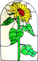 620 - Sunflower Arch - Handmade peelable static window cling decoration