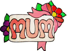 621 - Mum - Handmade peelable static window cling decoration