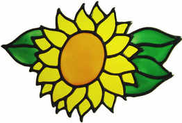353 - Small Sunflower handmade peelable window cling decoration