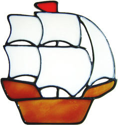 626 - Sailing Boat - Handmade peelable static window cling decoration