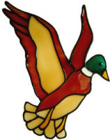 646 - Flying Duck - Handmade peelable static window cling decoration
