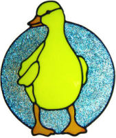 687 - Duckling - Handmade peelable static window cling decoration