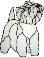 672 - Westie Dog - Handmade peelable static window cling decoration