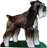 662 - Schnauzer Dog - Handmade peelable static window cling decoration
