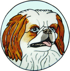 693 - Pekingese Dog - Handmade peelable static window cling decoration