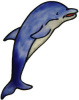 696 - Dolphin - Handmade peelable static window cling decoration