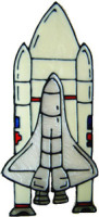 709 - Space Shuttle - Handmade peelable static window cling decoration