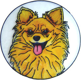 716 - Pomeranian Dog - Handmade peelable static window cling decoration