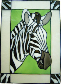 723 - Zebra Frame - Handmade peelable static window cling decoration