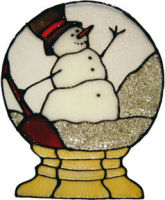 728 - Snow Globe - Handmade peelable static window cling decoration