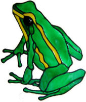 733 - Frog - Handmade peelable static window cling decoration