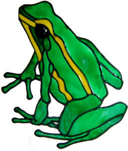 733 - Frog - Handmade peelable static window cling decoration