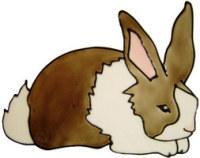 746 - Large Rabbit - Handmade peelable window cling decoration