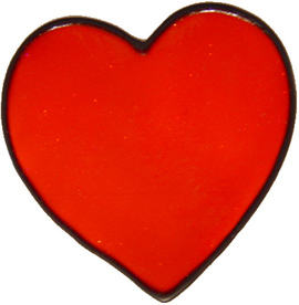 738 - Large Single Heart - Handmade peelable static window cling decoration