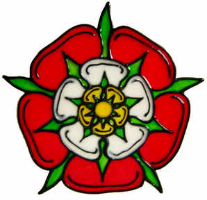 757 - Tudor Rose - Handmade peelable window cling decoration