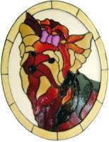 605 - YorkshireTerrier Oval - Handmade peelable static window cling decoration