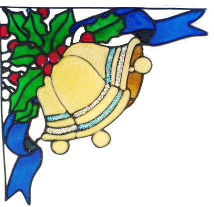 523 - Christmas Corner - Handmade peelable static window cling decoration