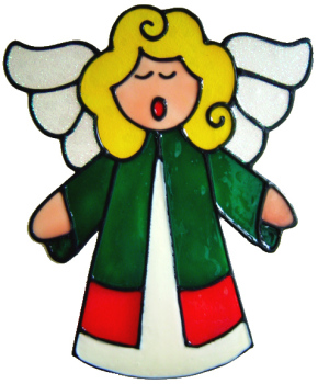 231 - Singing Angel handmade christmas window decoration