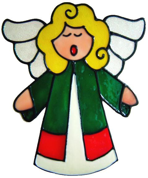 231 - Singing Angel handmade christmas window decoration