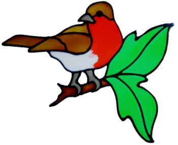 84 - Robin handmade peelable window cling decoration