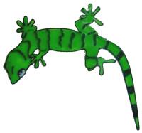 934 - Gecko handmade peelable window decoration