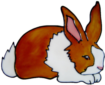 842 - Small Rabbit handmade peelable window cling decoration