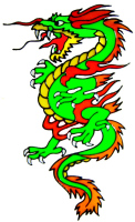 702 - Chinese Dragon - Handmade peelable static window cling decoration