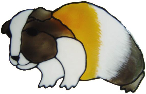 562 - Guinea Pig - Handmade peelable static window cling decoration