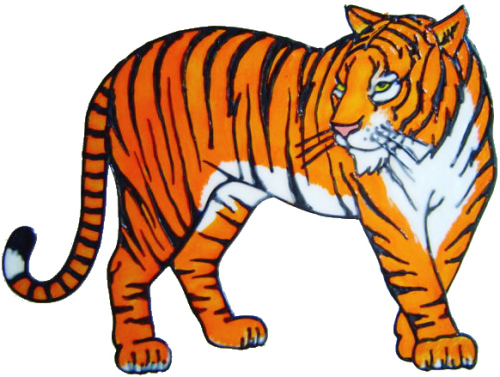 556 - Tiger - Handmade peelable static window cling decoration
