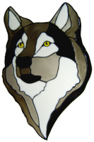 541 - Wolf - Handmade peelable static window cling decoration