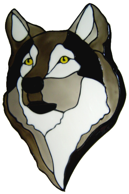 541 - Wolf - Handmade peelable static window cling decoration