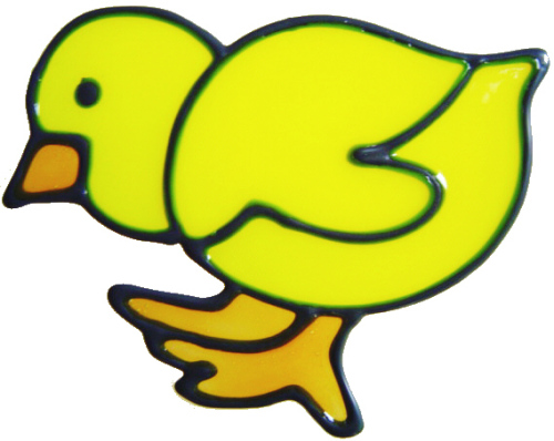624 - Chicks - Handmade peelable static window cling decoration