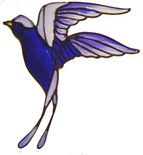 561 - Barn Swallow - Handmade peelable static window cling decoration