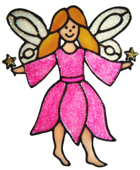 413 - Fairy handmade peelable window cling decoration
