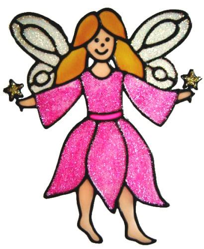 413 - Fairy handmade peelable window cling decoration