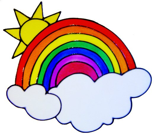 53 - Rainbow & Cloud - Handmade peelable static window cling decoration