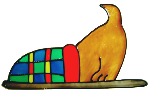 753 - Naughty Puppy - Handmade peelable window cling decoration