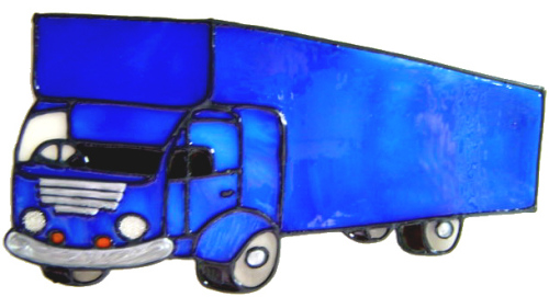 700 - Lorry - Handmade peelable static window cling decoration