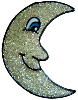 661 - Moon - Handmade peelable static window cling decoration