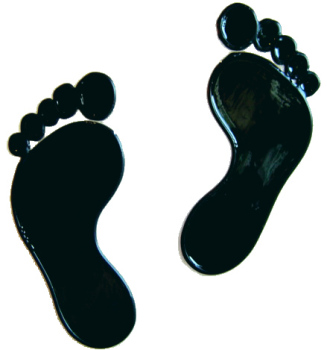 669 - Footprints - Handmade peelable static window cling decoration