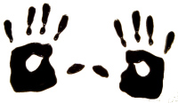 627 - Handprints - Handmade peelable static window cling decoration