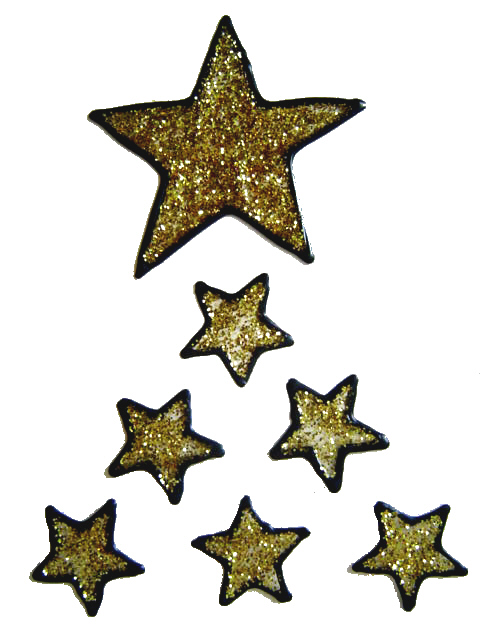828 - Stars Set handmade peelable window cling decoration