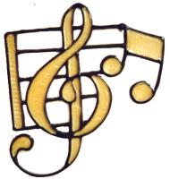 750 - Music Notes - Handmade peelable window cling decoration