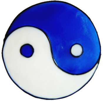 677 - Yin-Yang - Handmade peelable static window cling decoration