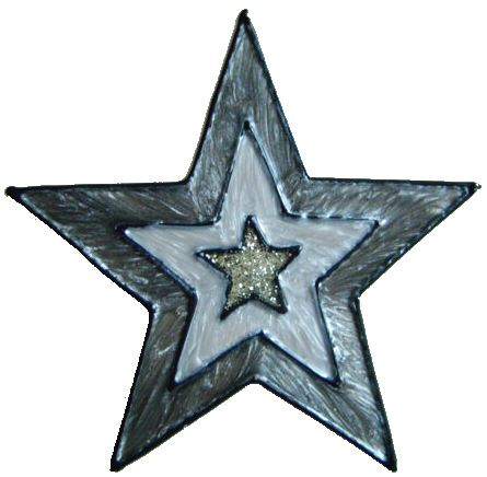 504 - Star - Handmade peelable static window cling decoration
