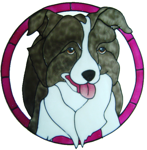 909 - Border Collie handmade peelable dog window cling decoration