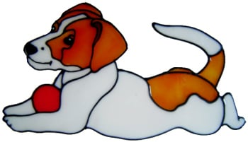 459 - Jack Russell Dog handmade peelable window cling decoration