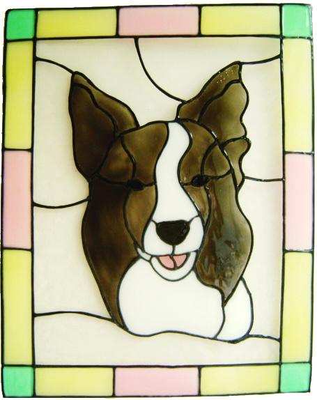 671 - Border Collie Dog - Handmade peelable static window cling decoration